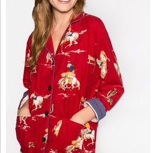 Pj Salvage Red Cowboy Flannel Pajama Set S XL New